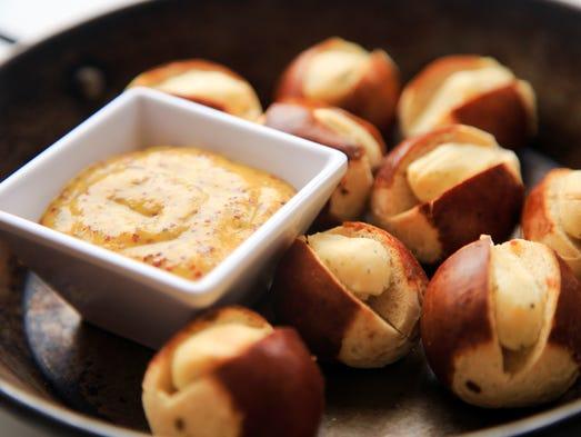 The  boursin pretzel bites from Magnolia Wine Kitchen