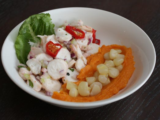 The Octopus Ceviche at Maura's Kitchen on South Broadway
