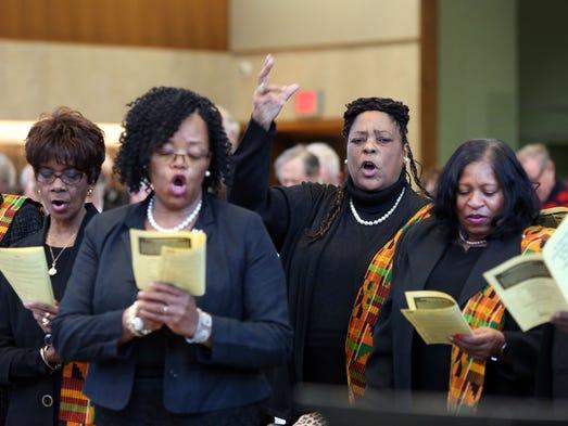 Gwen Rhymer of Mount Hope AME Zion Church Vision Choir