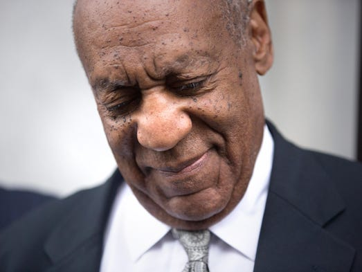 Bill Cosby leaves the Montgomery County Courthouse
