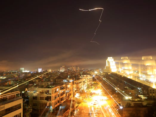 Damascus is seen as the U.S. launches an attack on