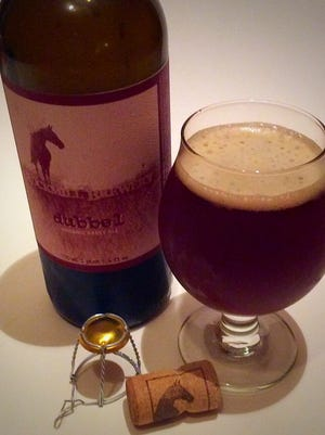A Dubbel abbey ale from Rockmill Brewery. Lancaster.