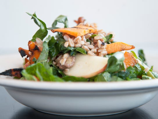 A seasonal repast: Pumpkin and farro salad at Trattoria Carina in Philadelphia.