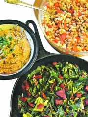 Make sure to include lucky foods like greens and black-eyed peas for your New Year feast.