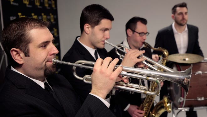 The Extra Crispy Brass Band, shown performing in the Tap Milwaukee studios in 2015, will headline opening night of the 2017 edition of Jazz in the Park. The performers shown are, from left: Rob Awe, Andy Buck, Troy Leisemann, Matt Koehler.