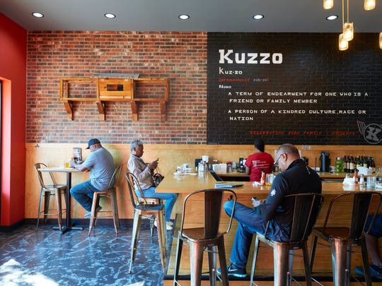 A scene from Kuzzo's Chicken and Waffles in Detroit.
