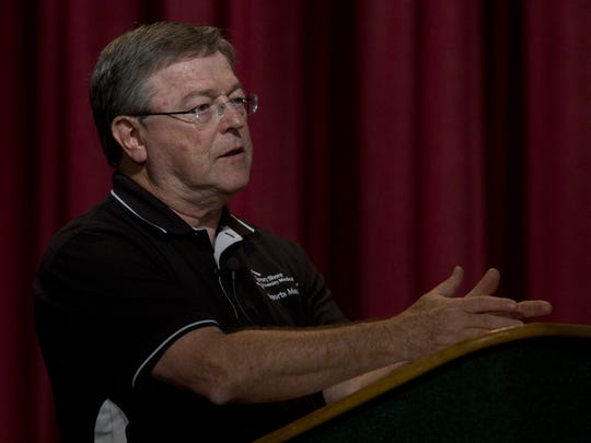 Dr. Stephen Rice, M.D. talks about concussions.at Colts Neck High School in 2012.