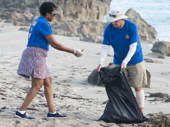The Stuart Sunrise Rotary Club held a beach cleanup on June 9 along the beaches north and south of the House of Refuge Museum in Stuart.