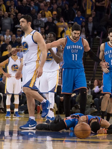 Zaza Pachulia was assessed a flagrant-1 for his hard