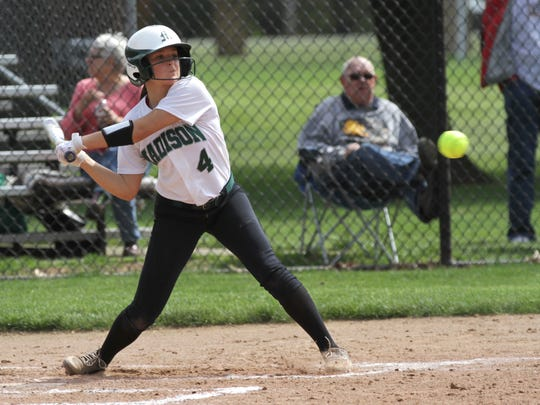 Madison's Sloan Kiser swings at the ball while playing