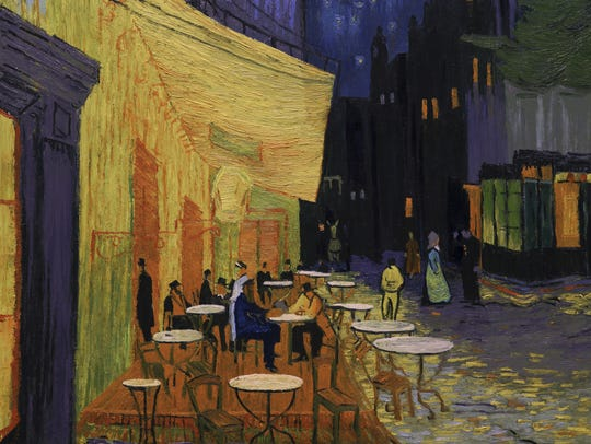 Arles Cafe Terrace at Night in 'Loving Vincent.'