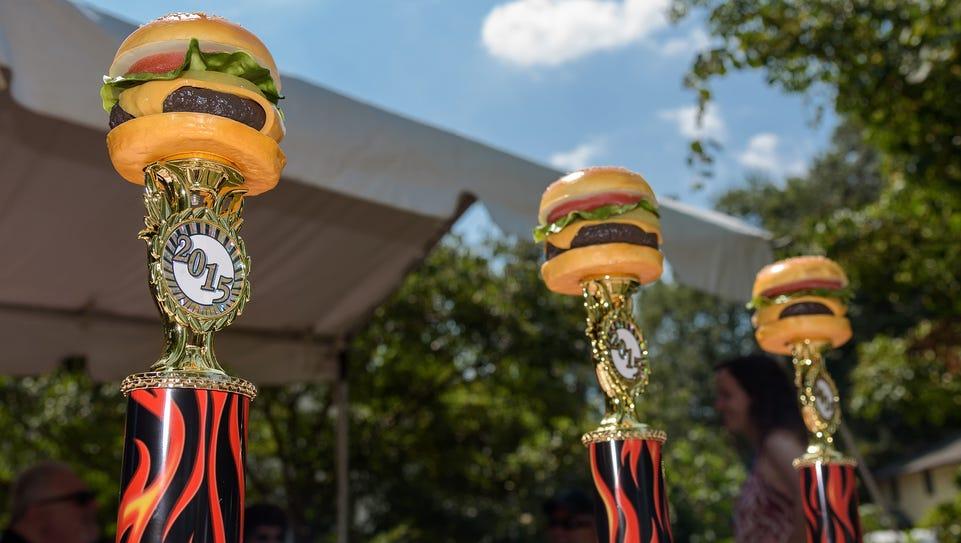 Delaware Burger Battle trophies.