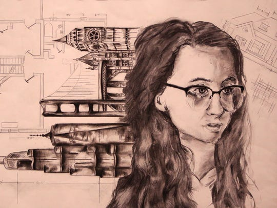 Ioana Murgulet, a student at Flour Bluff Junior High, submitted this piece titled Future Engineer the Art Museum of South Texas Visionarios' Visionarios contest. The theme of the exhibit is using art to communicate concepts of science, technology, engineering and math.