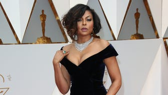 Lights! Cameras! Action!    Taraji P. Henson makes her way down the red carpet during the 89th Academy Awards at Dolby Theatre.