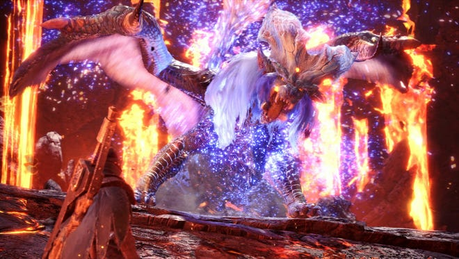 "The ""Empress of Flame,"" Lunastra, enters the fray in Monster Hunter World as part of the game's third major update."