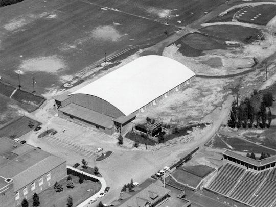 Construction of Lynah Rink began in June 1956 and was