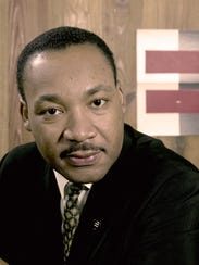 The birthday of Martin Luther King Jr. (shown in a