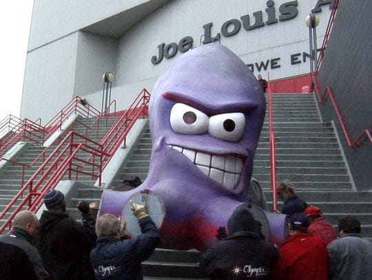 How about a live Al the Octopus mascot as part of the entertainment at Little Caesars Arena?