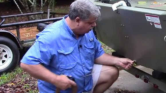 Scott McGehee demonstrates how to wire a boat for a