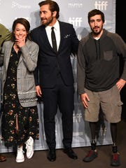 (L-R) Actors Tatiana Maslany, Jake Gyllenhaal and Jeff