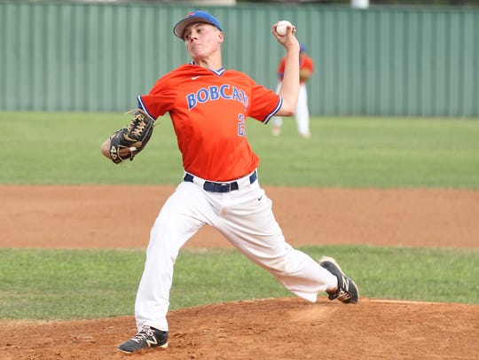 San Angelo Central High School pitcher Trey Neslage