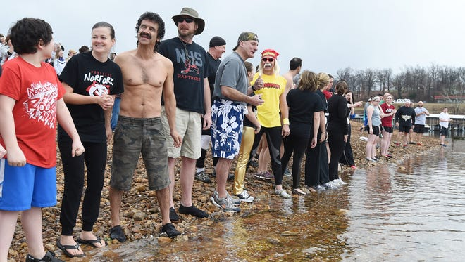 Area resident get ready to jump into Norfork Lake Saturday for the Polar Plunge to benefit Special Olympics.