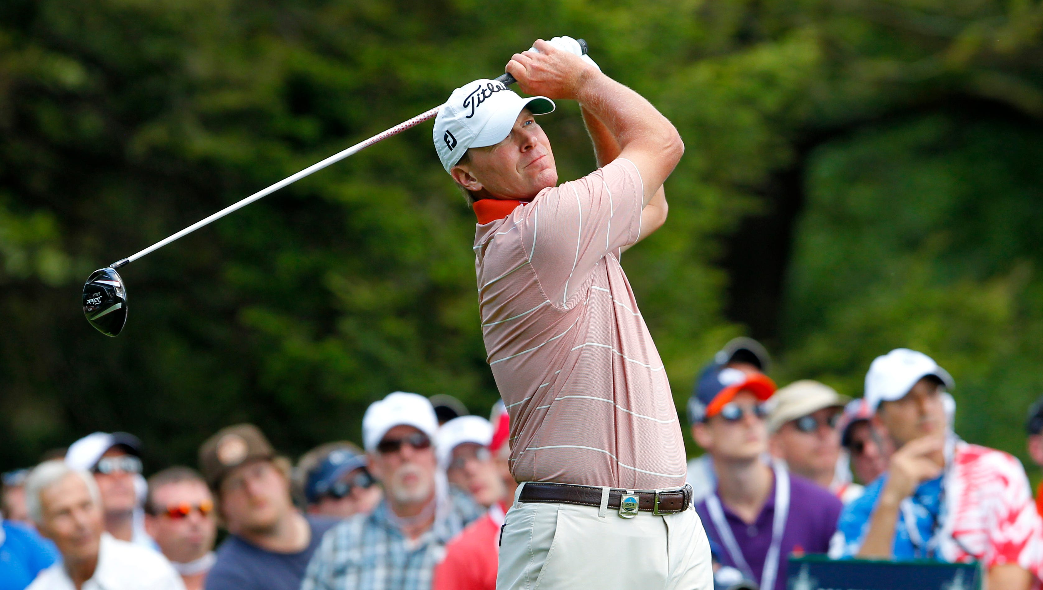 Steve Stricker on 8 during the final round of the 95th PGA Championship at Oak Hill in Pittsford, NY August 11, 2013.