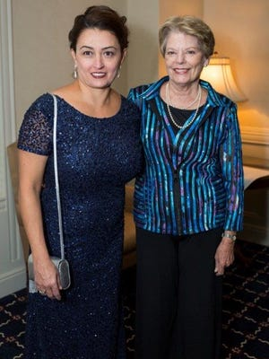 Kate Travis, left, and Margaret Munchmeyer co-chaired the Cayuga Medical Center Foundation gala.