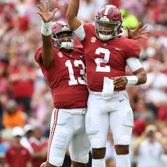 Alabama's starting quarterback controversy remains; 'We'll see,' Nick Saban says