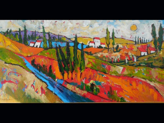 Artist Elaine Rose Lanoue will show and sell her paintings