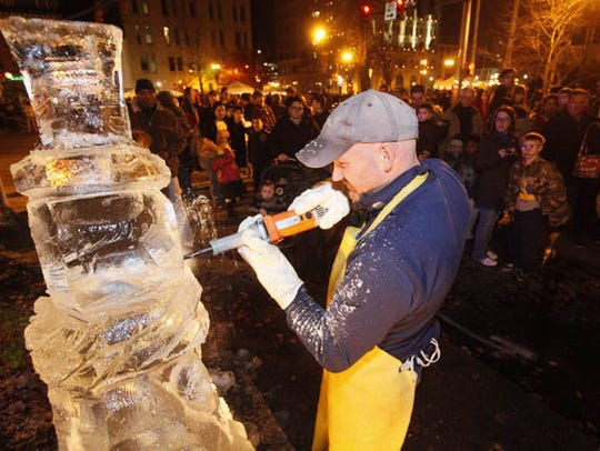 There will also be a live ice carving demonstration