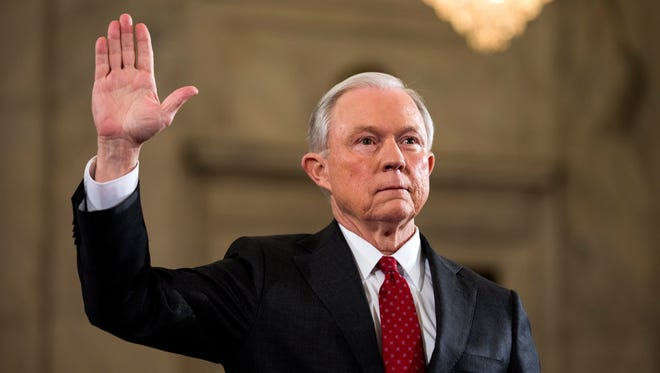 Jeff Sessions testifies at his confirmation hearing.