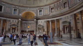 The niches inside the Pantheon once housed the pagan gods of ancient Rome. Today, Christian saints live there.