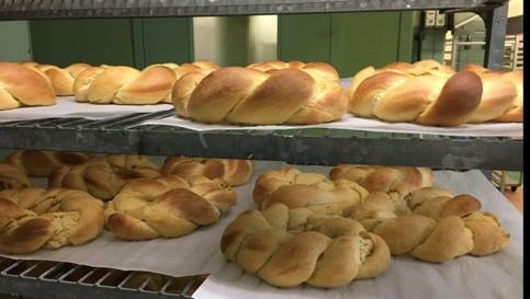 Braided bread is among the items for sale at the annual St. Peter's Bake Sale which is Tuesday and Wednesday in the church basement.