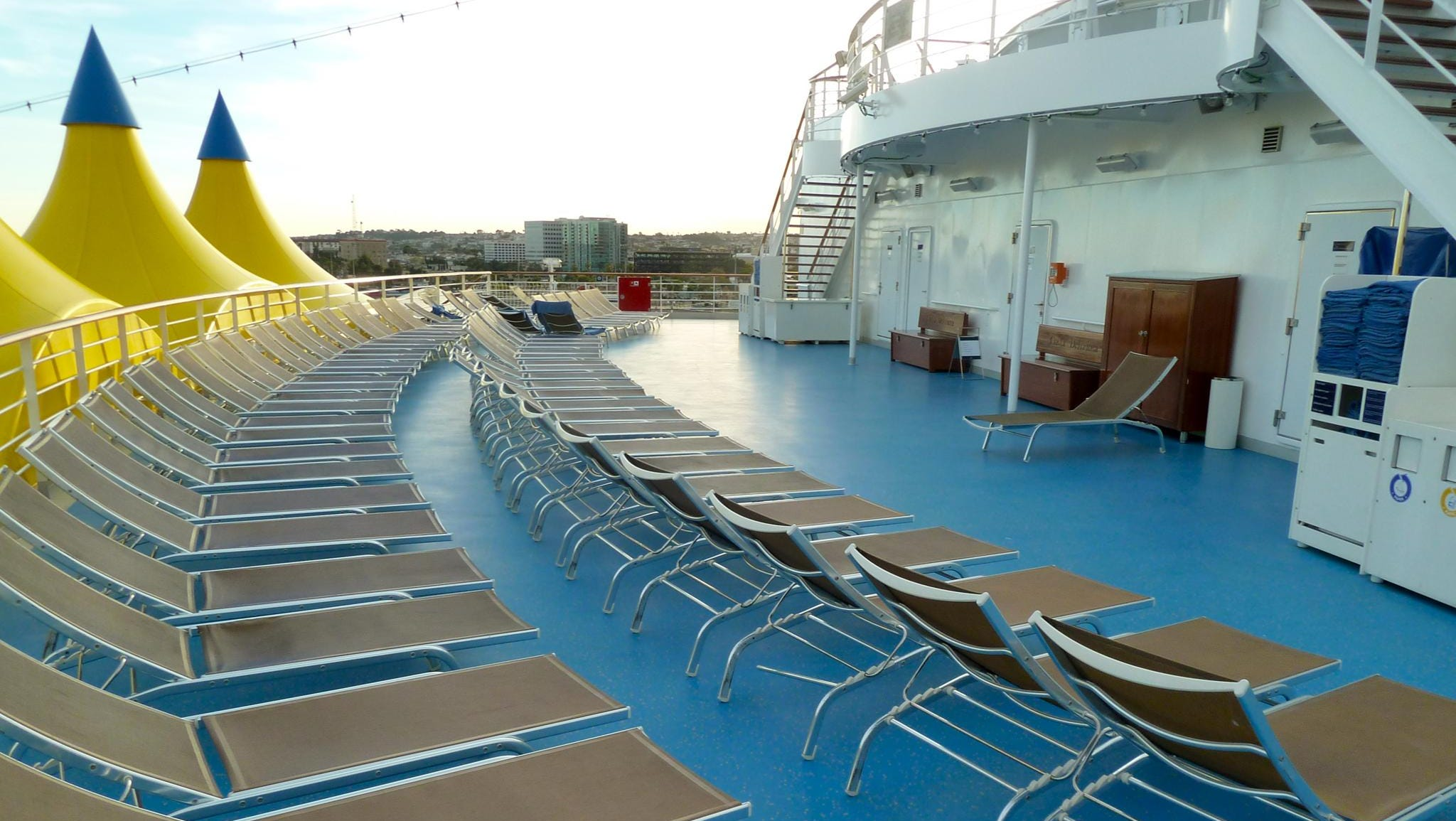 Magnolia Deck concludes with a sunning terrace.