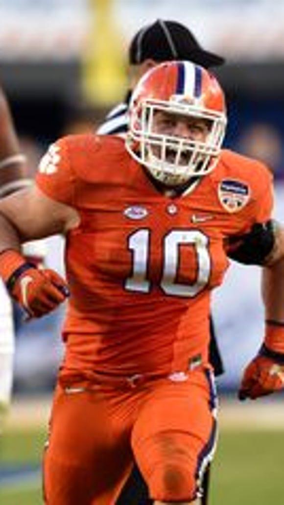 Clemson linebacker Ben Boulware during the 2016 Orange Bowl vs. Oklahoma.