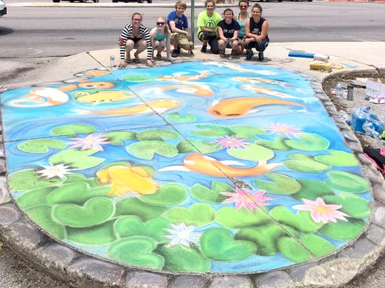 The Judges Choice winner of Main Street Hanover's 6th Annual Chalk It Up event was South Western High School's National Art Honor Society.