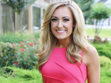 Miss Tennessee Grace Burgess poses outside the DoubleTree Hotel Sunday.