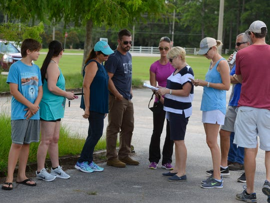 Family members gather at the Escambia County Equestrian