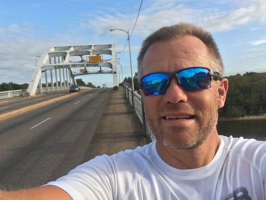 Swiss native Heinz Ruch shoots a selfie on the Edmund