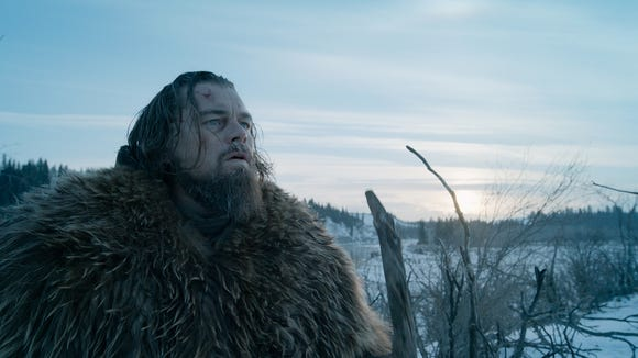 """This photo provided by Twentieth Century Fox shows, Leonardo DiCaprio in a scene from the film, """"The Revenant."""""""