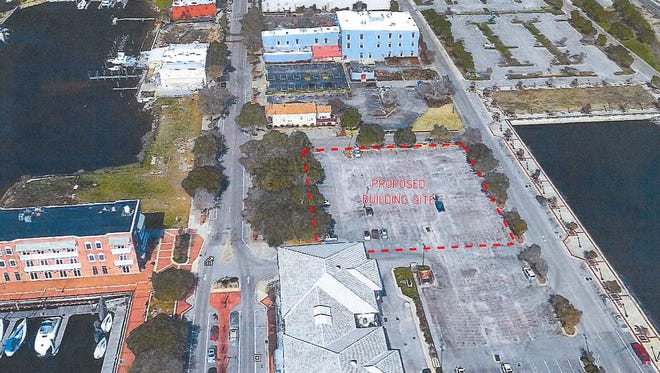 Marina Management Corp hopes to build a new residential condominium in downtown Pensacola just north of Plaza de Luna