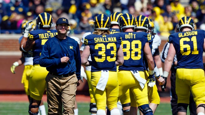 Jim Harbaugh's highly anticipated first game as Michigan coach comes Sept. 3 at Utah.