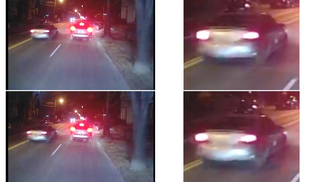 Images of a car sought in connection with a hit-and-run Thursday night.