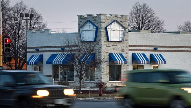 Traffic moves near the the St. Cloud White Castle location Tuesday, Jan. 9.