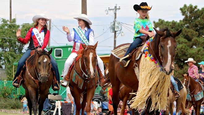 In this file photo, rodeo queens are seen during the 86th Clay County Pioneer Reunion parade in Henrietta. This year will celebrate the 90th year for the annual celebration.