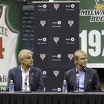 Milwaukee Bucks owners Marc Lasry, left, and Wesley Edens.