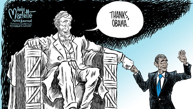 Farewell Obama commentary from Andy Marlette