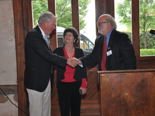 From left, AnMed Health President Emeritus John Miller, his wife Julie, and AnMed Health Foundation Chairman Hugh Burgess