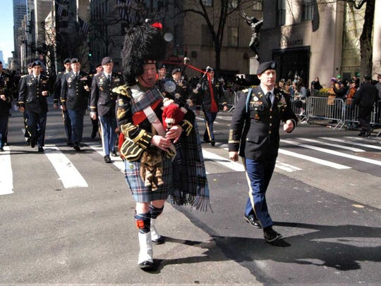 Joe Brady, a Peekskill native, is a bagpiper in the
